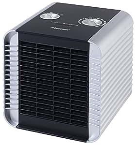 Bestron ACH1500S - Calefactor cerámico, 750 / 1500 W, 18,5 x 18,5 x 20 cm, 4 ajustes de calor, color plateado
