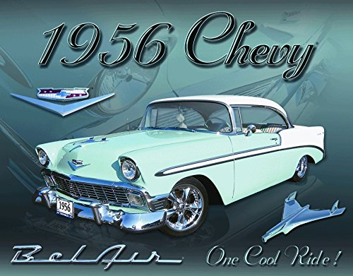 Chevy 1956 Bel Air Vintage Old Classic Advertising TIN SIGN 8