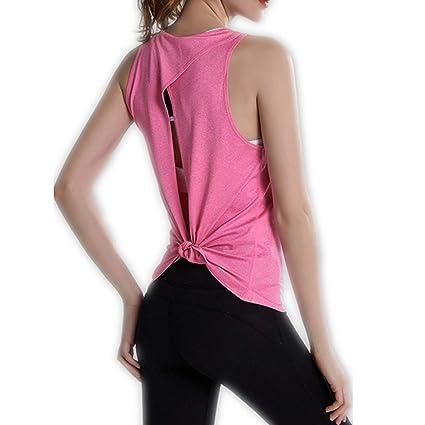 Lemedy Yoga Mujer Camiseta Tirantes Fitness Deportiva de ...