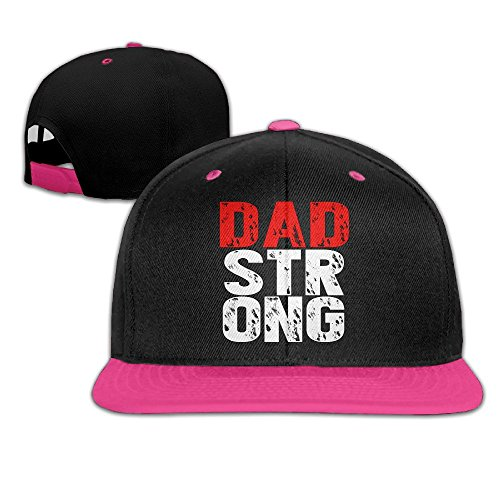 Fortinyro Dad Strong Men's Adjustable Contrast Baseball Cap Pink (Rorschach Hat)