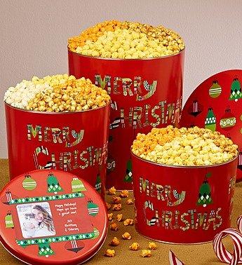 merry christmas 3 12 gallon 4 flavor popcorn tin 3