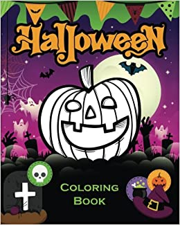 Halloween Coloring Book For Kids JYT Books 9781517347796 Amazon