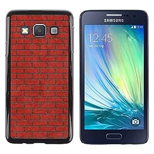 Be Good Phone Accessory // Dura Cáscara cubierta Protectora Caso Carcasa Funda de Protección para Samsung Galaxy A3 SM-A300 // Brick Wall Pink Red Meaning Music