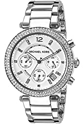 Michael Kor Women's Parker Silver-Tone Watch MK5353