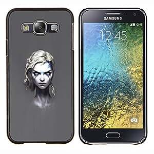 EJOOY---Cubierta de la caja de protección para la piel dura ** Samsung Galaxy E5 E500 ** --Goth Girl