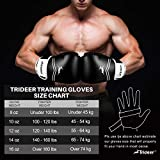 Trideer Pro Grade Boxing Gloves, Kickboxing Bagwork Gel Sparring Training Gloves, Muay Thai Style Punching Bag Mitts, Fight Gloves Men & Women