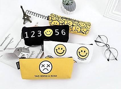 EEEVER Estuches para lápices, 2 unidades, cartón, cara sonriente ...