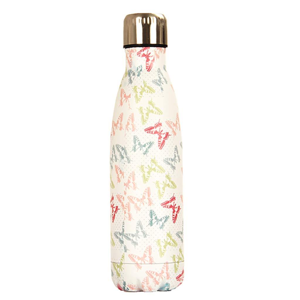 JY Wasser Tasse Vakuum Edelstahl Cola Flasche Isolierung Cup Banana Flamingo Cup