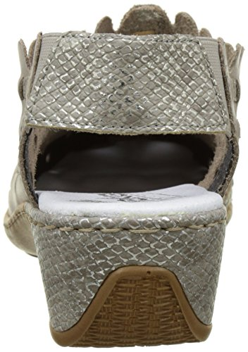 Rieker 47156-42, Mocasines para Mujer Gris (Steel/fango-silver)