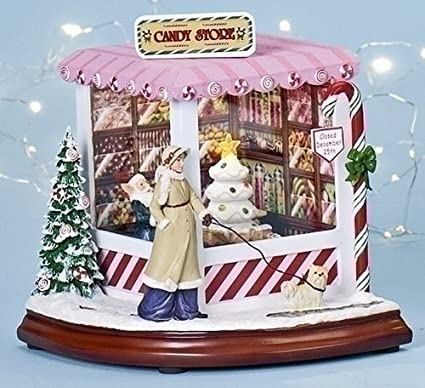 christmas decoration north pole candy store lighted musical and animated decoration