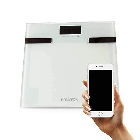 PRIXTON - Bascula de baño digital con APP para Móvil / Bluetooth ...