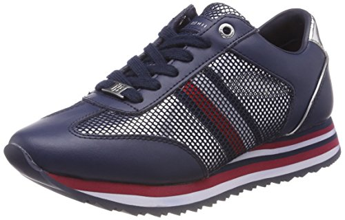 Corporate Sneakers Navy 406 Sneaker Flag Bleu Femme Tommy Basses tommy Hilfiger fwpqScHO7
