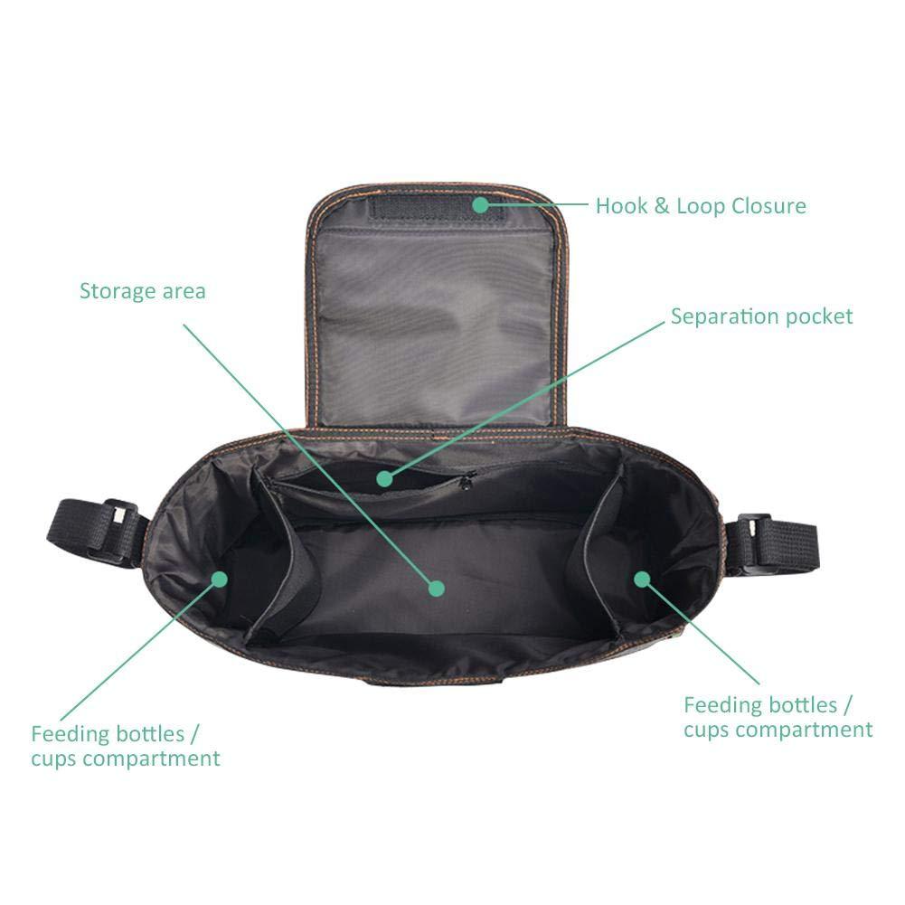 Dunkelblau #N//A Kinderwagen Organizer Kinderwagentasche Buggy Organizer Tasche Universal Multifunktion Kinder Buggy Tasche