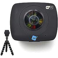 NK AC3091-36D - Cámara Acción Deportiva 360º, FullHD 1080p, Doble Óptica, Sistema Realidad Virtual, Soporte 360º YouTube…