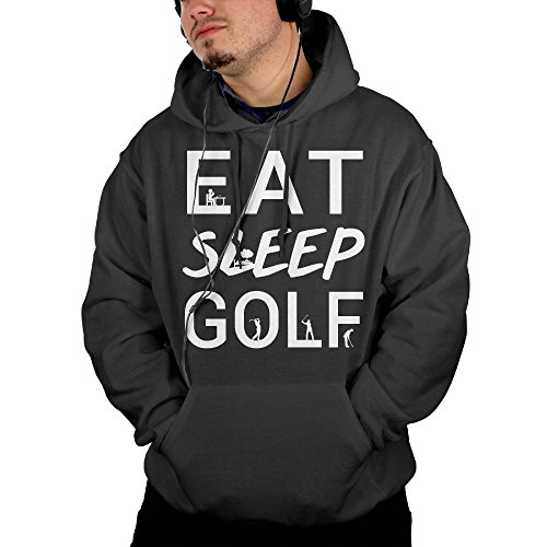 Archery Costume Sportswear (Men's Eat Sleep Golf Pullover Casual Hoodie With Front Pocket Small)