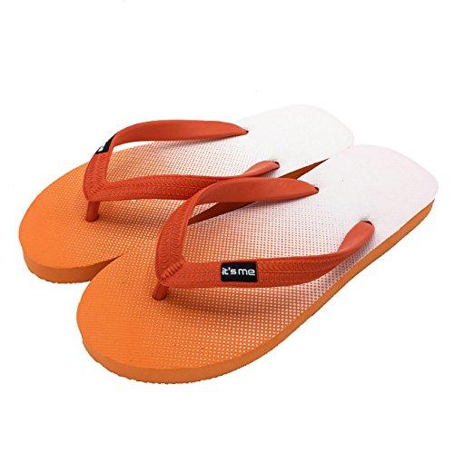 its me It´s Me | Flip Flop | Jetzt Aus Natur-Kautschuk | 0% PVC | Rutschfest und Weich | gesundheitlich unbedenklich | Kautschuk Passt Sich der Form Deines Fußes An | Fühle Den Unterschied ! orange / weiss