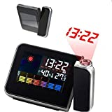 Digital Weather LCD Projector Projection Snooze Alarm Clock with LED Backlight Y