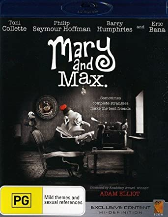 Amazon Com Mary Max Blu Ray Toni Collette Phillip Seymour Hoffman Barry Humphries Eric Bana Adam Elliot Movies Tv