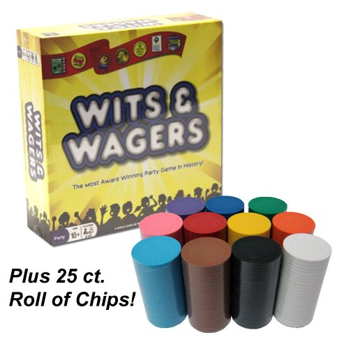 Wager Mania Game Pack Includes Wits & Wagers and 25 Ct Pack of Chips