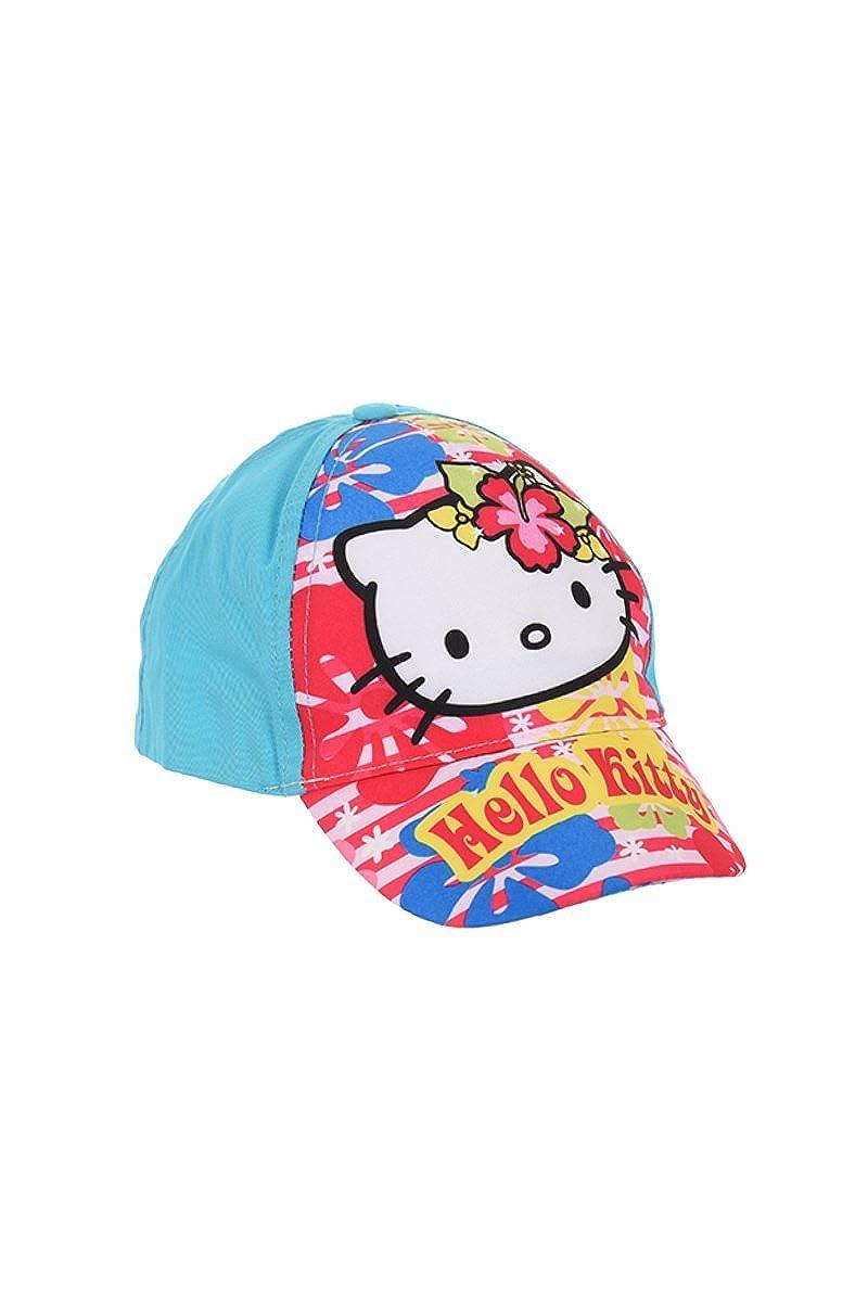 Hello Kitty Cappellino, berretto da baseball, berretto da bambino, ragazza, 100% cotone con velcro regolabile OE4002