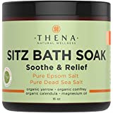 Best Organic Sitz Bath Soak For Natural Postpartum Care Recovery & Hemorrhoids Relief, 19+1 Extra Healing Safe At-home Treatment, Soothe Pain or Discomfort, Epsom & Dead Sea Salts Cedarwood Oil, 16 Oz