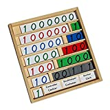 Dovewill Kids Fun Toy Set Montessori Educational Bank Game Play Number Cards w/ Tray