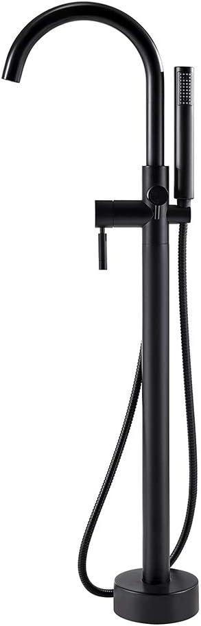 Ove Decors Black Athena Matte Freestanding Faucet