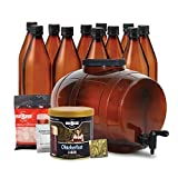 two gallon beer kit - Mr. Beer Oktoberfest Lager 2 Gallon Homebrewing Craft Beer Making Kit with All Grain Extract Beer Refill, Convenient 2 Gallon Fermenter, Bottles, Caps, Carbonation Drops, and Sanitizer