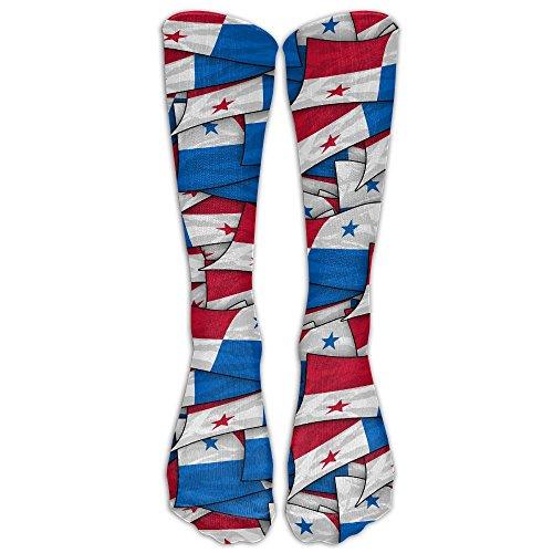 Panama Flag Wave Collage Compression Socks Soccer Socks High Socks Long Socks For Running,Medical,Athletic,Edema,Diabetic,Varicose Veins,Travel,Pregnancy,Shin Splints,Nursing. Panama Runner