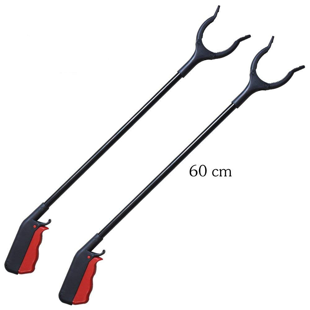 [2-Pack] 24'' Grabber Reacher | Rotating Gripper | Mobility Aid Reaching Assist Tool | Trash Picker, L