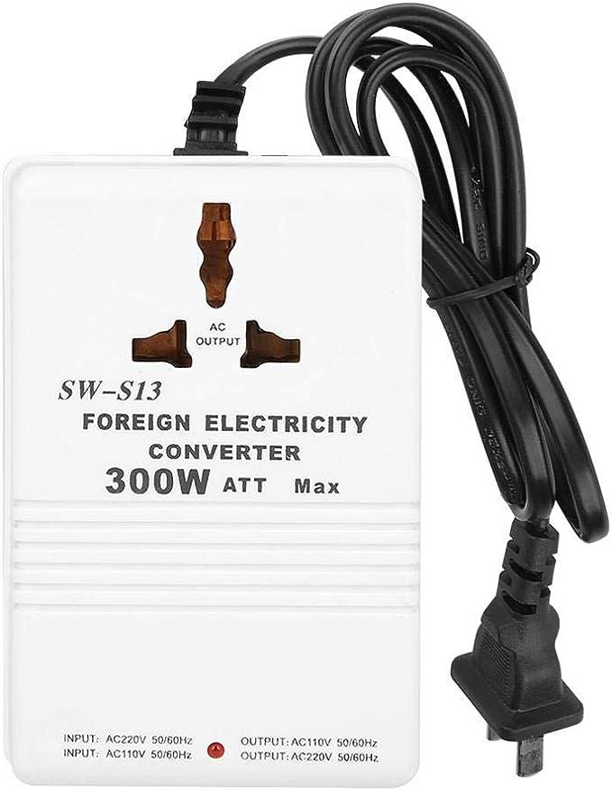Convertidor de Voltaje, SW-S13 Transformador Convertidor de Voltaje Ascendente y Descendente de 300 W de 220 a 110 V y de 220V a 110 V: Amazon.es: Bricolaje y herramientas