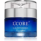 L'Core Paris Sapphire Facial Peel with Organic Extracts – Anti Aging Facial Peeling Gel Infused with Minerals and Real Sapphire Dust – 1.7oz/50ml
