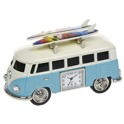 - NEW VW CAMPERVAN MINI DESKTOP CLOCK (GREAT MEN'S GIFT) WITH SURFBOARDS WINDOWED