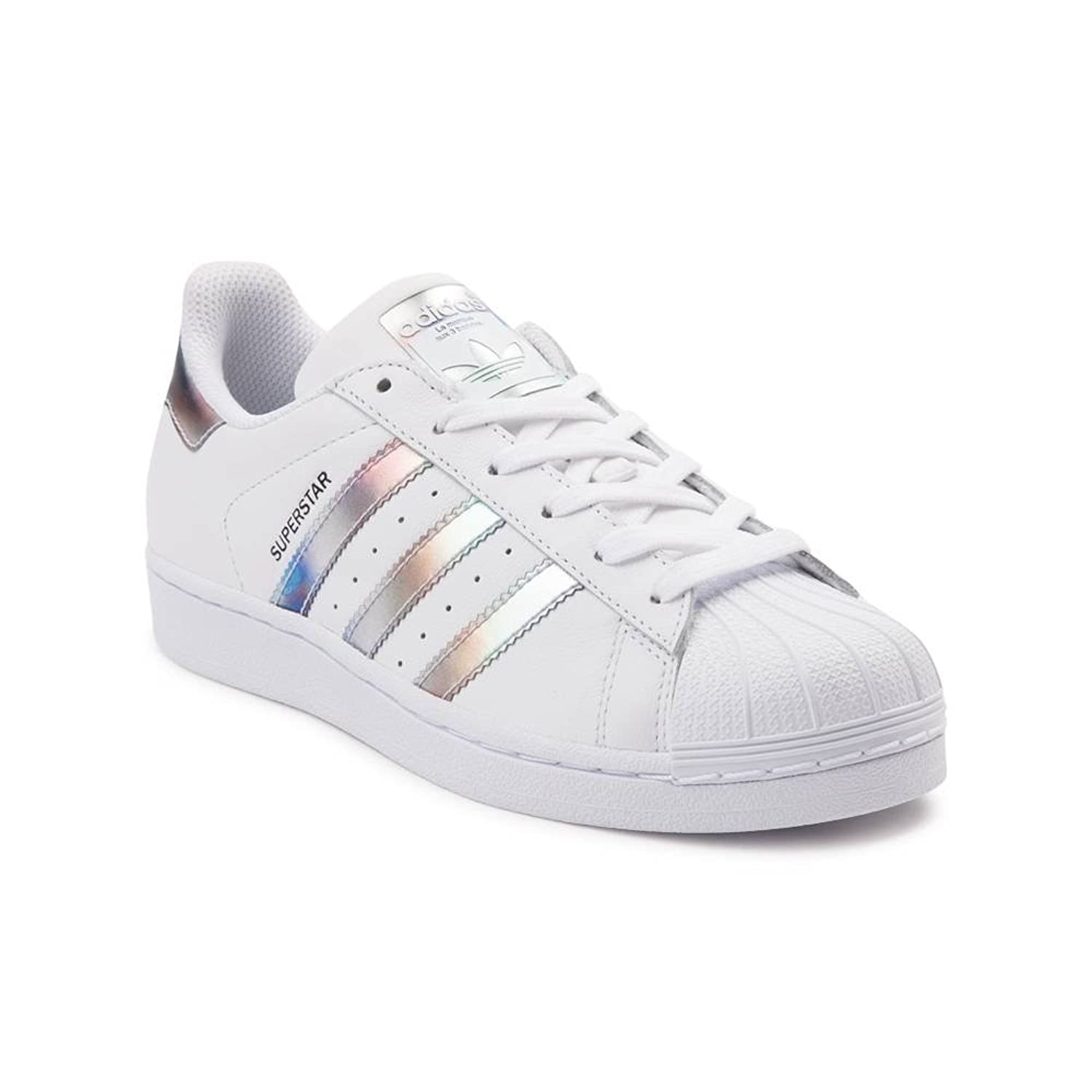 adidas Originals Women's Superstar W Fashion Sneaker (Mens 3/Womens 5, White Metallic 6287)