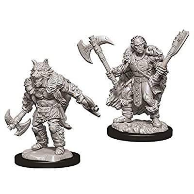 Dungeons & Dragons Nolzur`s Marvelous Unpainted Miniatures: W9 Male Half-Orc Barbarian: Toys & Games