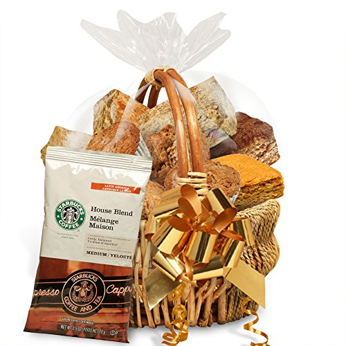 Simply Scrumptous Low Carb Fat Free Sweet Treats Gift Basket with coffee