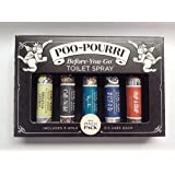 Poo-Pourri Before You Go Toilet Spray In A Pinch 5 Pack 4ml Each (Original Citrus, Call of the Wild, Deja Poo, Royal Flush & Trap-A-Crap)