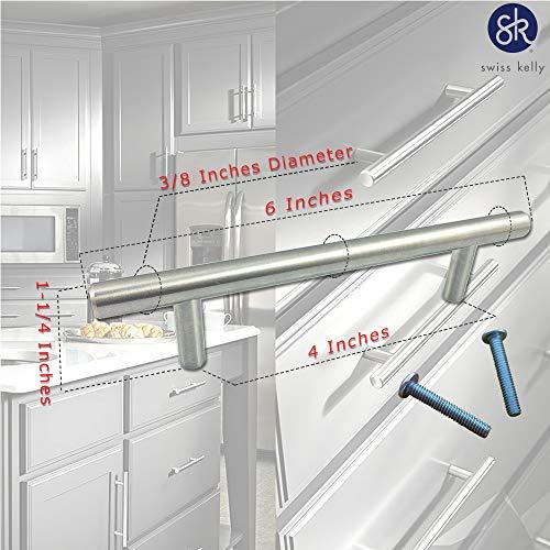 Swiss Kelly Hardware Satin Nickel Kitchen Cabinet Handles Drawer Pulls
