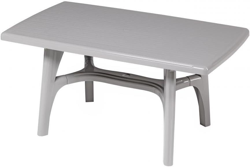 Mesa rectangular para exterior, Mesa Resina 150 x 90, mesa gris ...