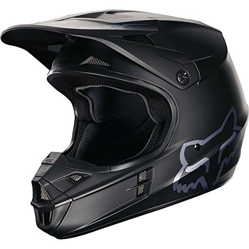 FOX ADULT V1 RACE MX DIRTBIKE ATV UTV SXS HELMET MATTE FLAT BLACK MEDIUM (Fox V1 Race Helmet)
