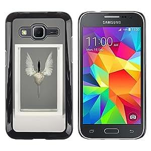 """For Samsung Galaxy Core Prime / SM-G360 Case , Marco de las alas del pájaro Símbolo Espada Arte Moderno"""" - Diseño Patrón Teléfono Caso Cubierta Case Bumper Duro Protección Case Cover Funda"""