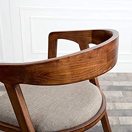 Amazon.com: Silla de oficina de madera maciza para ordenador ...