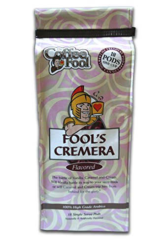 Coffee Fool's Cremera Pods Toffee Flavored Regular Coffee