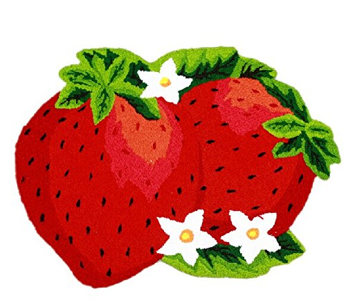 Strawberries Doormat Colorful Hand embroidered Personalized product image