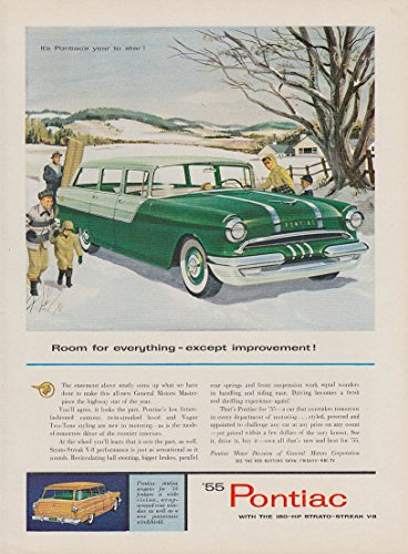 (Room for everything except improvement Pontiac Station Wagon ad 1955)