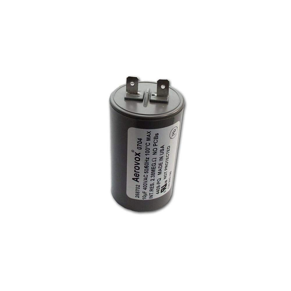 RUN CAPACITOR 10µF 10UF 400-500V SQUARE 4 SPADE TERMINALS AIRCONDITIONER