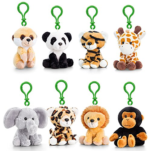 10cm Pippins Wild Bagclip 8 Assorted By Keel Toys (ONE SUPPLIED RANDOMLY) SF0791