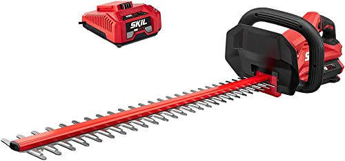 Skil HT4221-10 PWRCore 40 24 Brushless 40V Hedge Trimmer Kit Includes 2.5Ah Battery and Auto PWRJump Charger