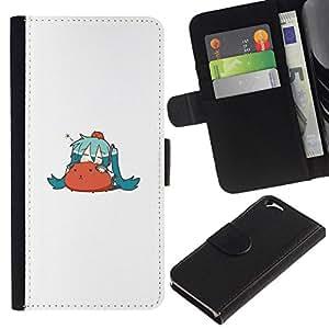 All Phone Most Case / Oferta Especial Cáscara Funda de cuero Monedero Cubierta de proteccion Caso / Wallet Case for Apple Iphone 6 // Cute Hamster