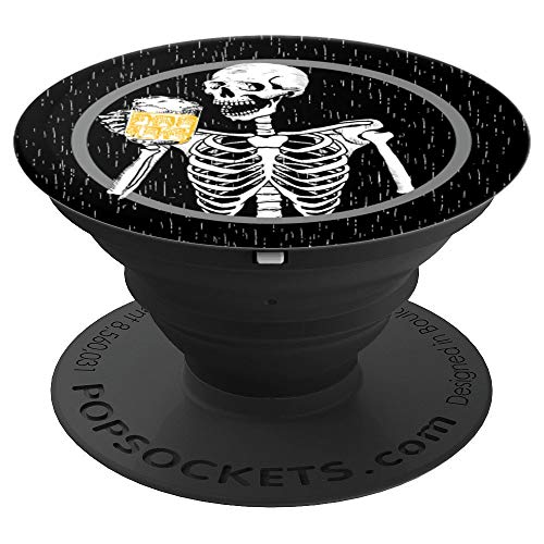 Pilsner Lager (Black Like my Soul Beer or Die Skeleton with lager pilsner - PopSockets Grip and Stand for Phones and Tablets)